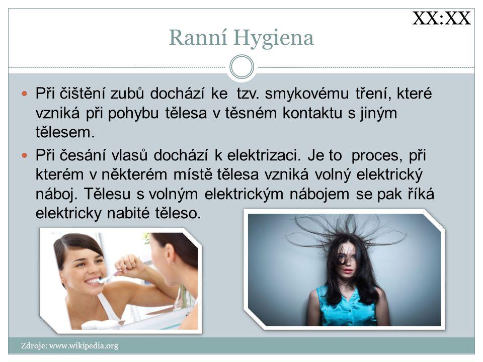 Ranní Hygiena Při čištění zubů dochází ke tzv.