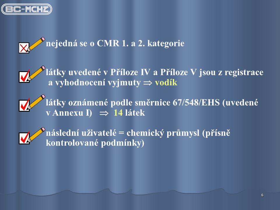 6 nejedná se o CMR 1.a 2.