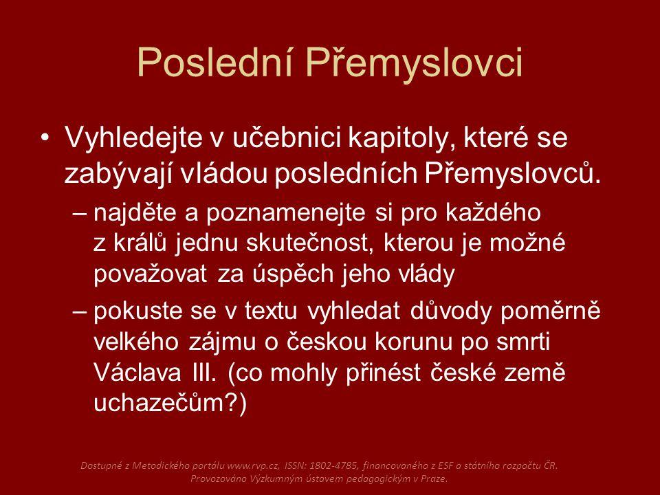 Královské sliby Pracujte s textem tzv.Inauguračního diplomu Jana Lucemburského.