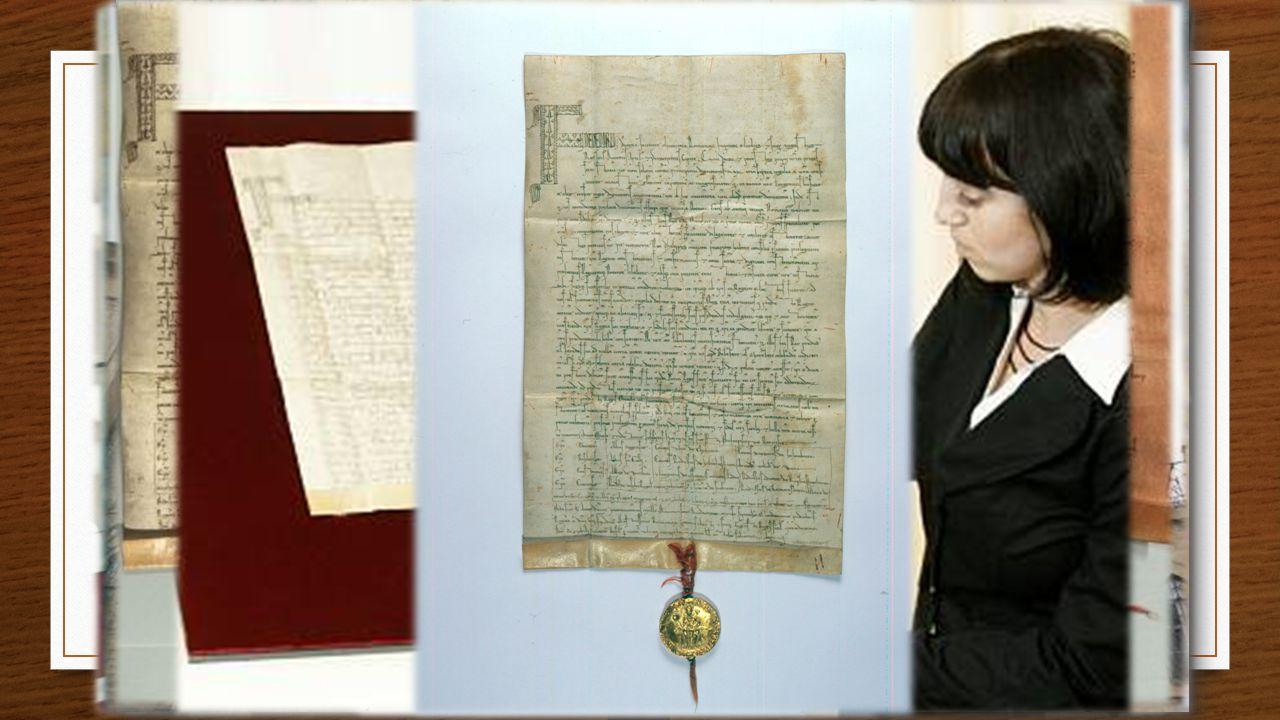 Zlatá bula sicilská 800 let Vydal - 26.9.1212 sicilský král : Fridrich II. Vydáno v: Basileji 3 listiny Volba panovníka - v této době v Čechách neobvy