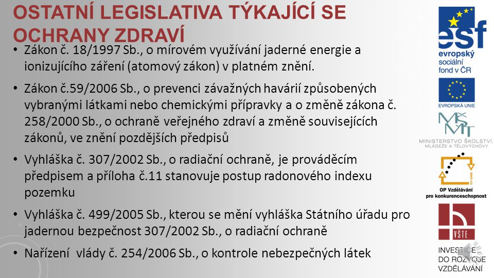 OCHRANA OVZDUŠÍ Vyhláška MŽP č.357/2002 Sb., kterou se stanoví požadavky na kvalitu paliv z hlediska ochrany ovzduší.
