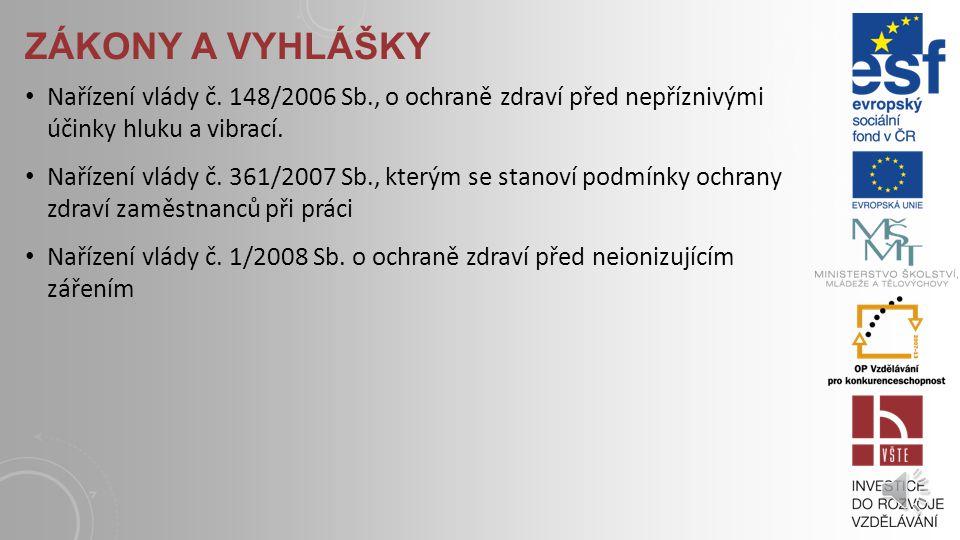 ZÁKONY A VYHLÁŠKY Vyhláška Ministerstva zdravotnictví č.