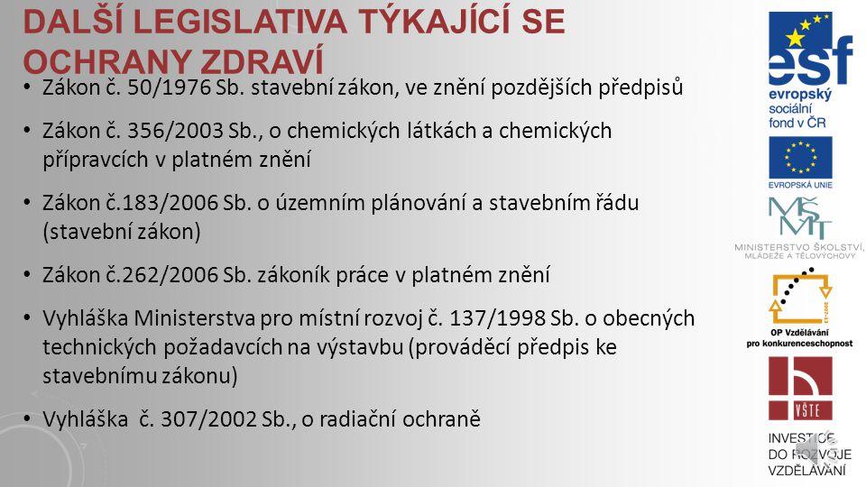 ZÁKONY A VYHLÁŠKY Nařízení vlády č.