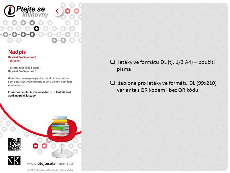  letáky ve formátu DL (tj.