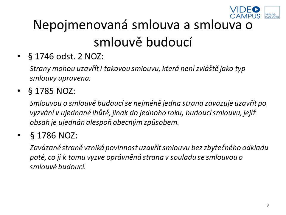 Adhezní smlouva § 1798 odst.