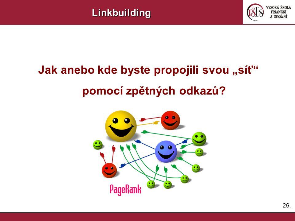 27.Linkbuilding LB Internetové diskuze BlogyPR články Výměna odkazů Nákup Sociální sítě