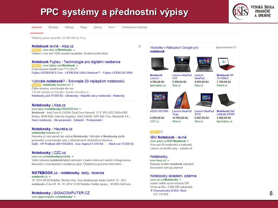 8.8. PPC systémy a přednostní výpisy