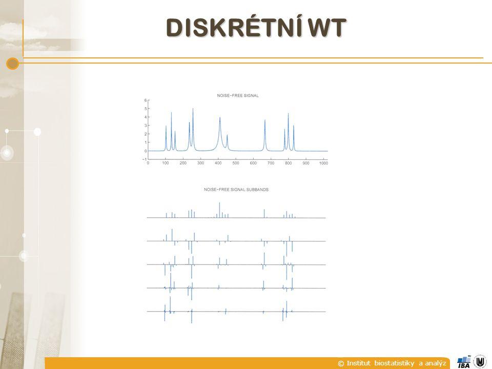 © Institut biostatistiky a analýz DISKRÉTNÍ WT