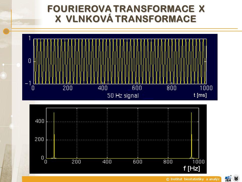 © Institut biostatistiky a analýz FOURIEROVA TRANSFORMACE X X VLNKOVÁ TRANSFORMACE
