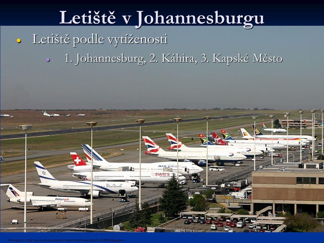 Letiště v Johannesburgu Letiště podle vytíženosti Letiště podle vytíženosti 1.