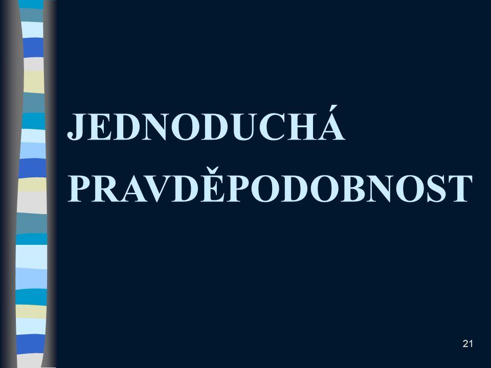JEDNODUCHÁ PRAVDĚPODOBNOST 21