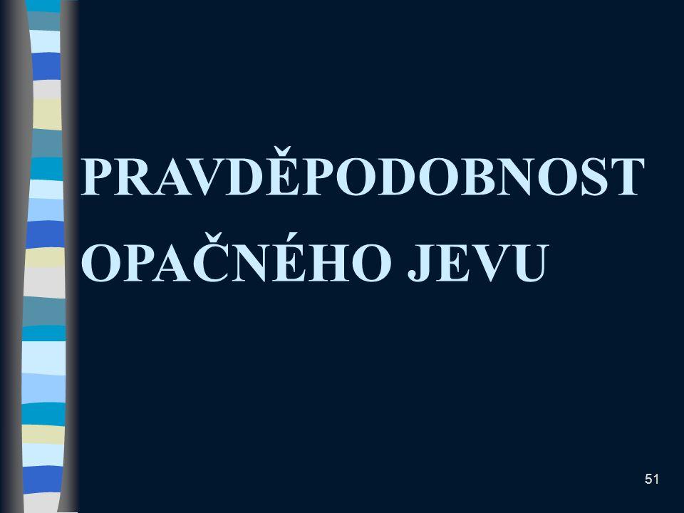 PRAVDĚPODOBNOST OPAČNÉHO JEVU 51