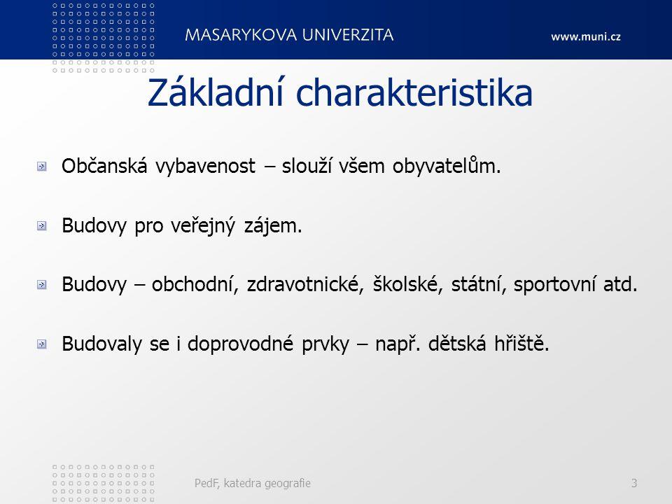 3 Základní charakteristika Občanská vybavenost – slouží všem obyvatelům.