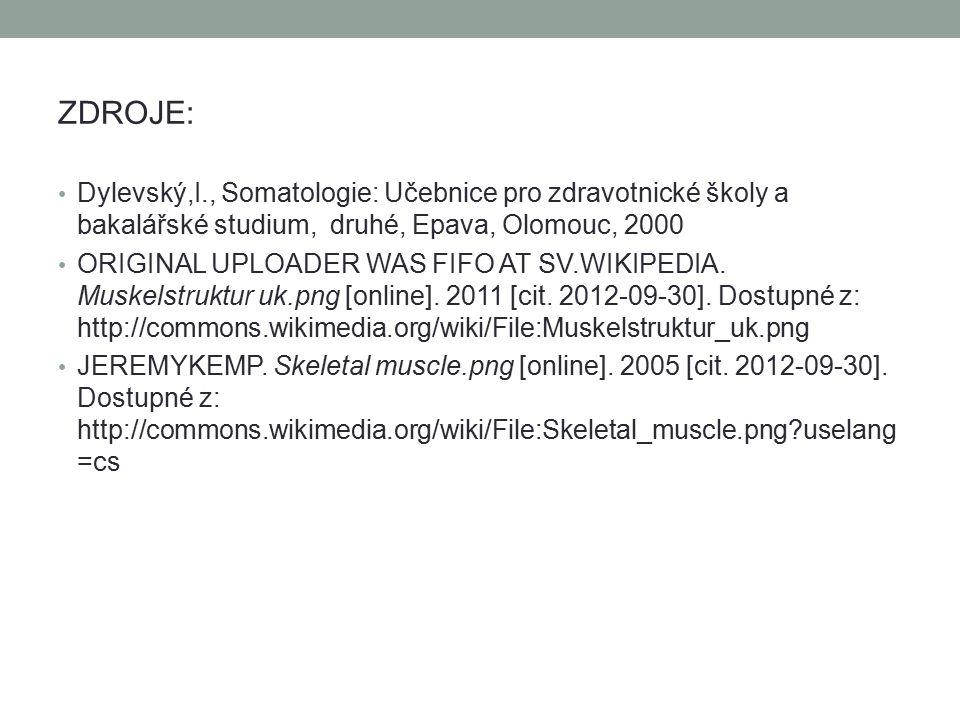 ZDROJE: Dylevský,I., Somatologie: Učebnice pro zdravotnické školy a bakalářské studium, druhé, Epava, Olomouc, 2000 ORIGINAL UPLOADER WAS FIFO AT SV.W