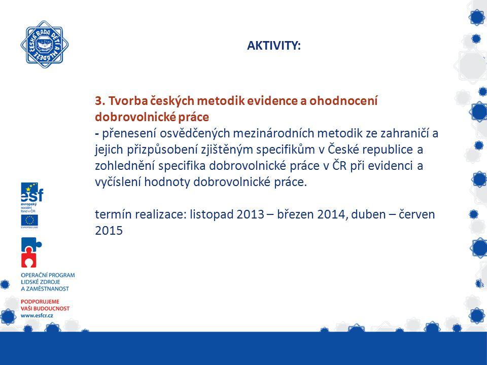 5.Jak promítnout hodnotu dobrovolnické práce v účetnictví organizace.