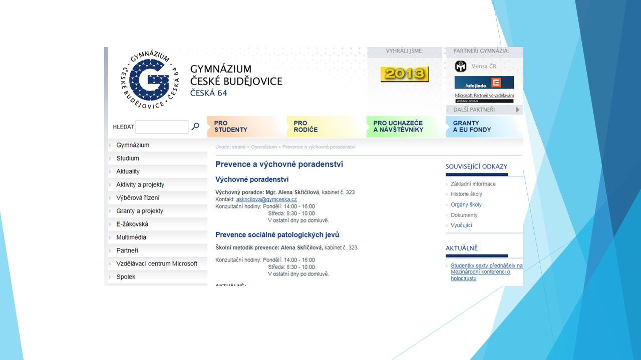 Uvolnění z TV  Pouze na základě lékařského doporučení – odevzdat do 18.9 a následně ihned v průběhu šk.