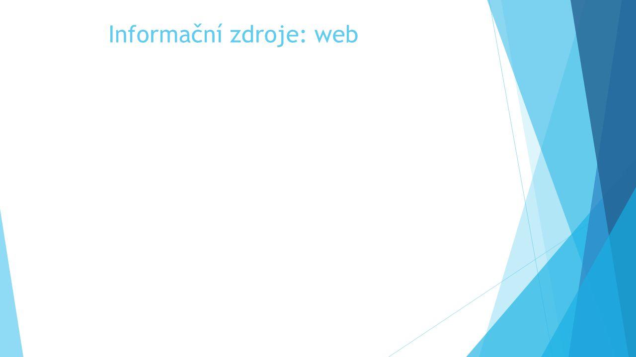 Informační zdroje: web