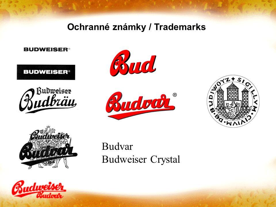 Budvar Budweiser Crystal Ochranné známky / Trademarks
