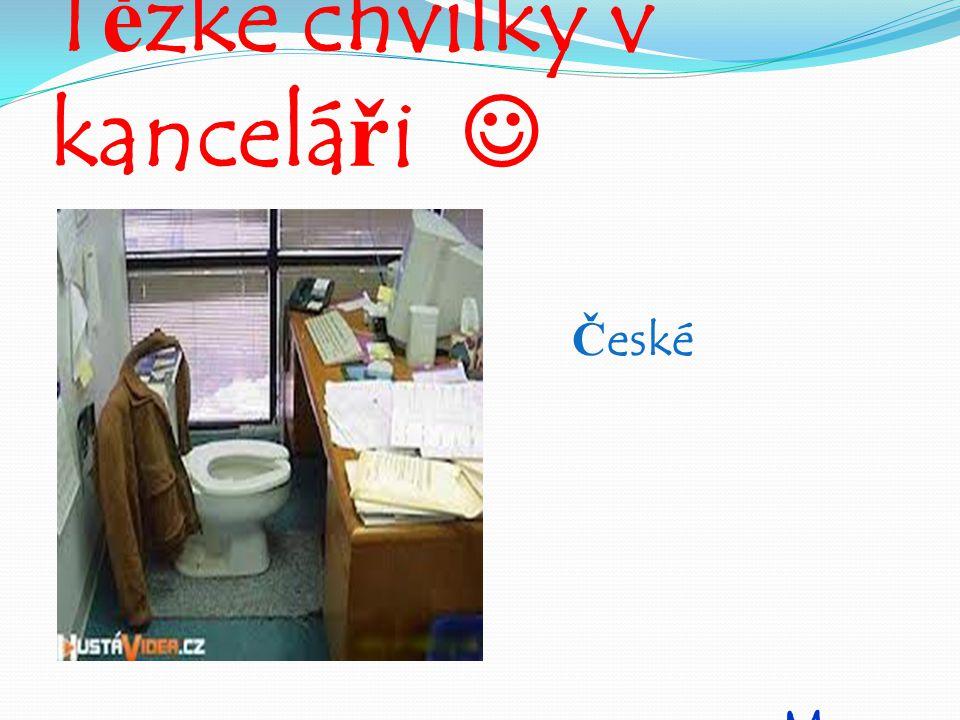 Těžké chvilky v kanceláři České Budějovice 24.4.2015 Mgr. Martina Sedláková