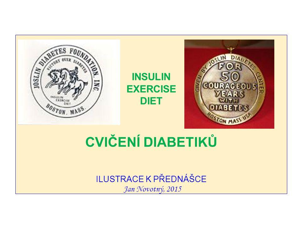 INSULIN EXERCISE DIET CVIČENÍ DIABETIKŮ ILUSTRACE K PŘEDNÁŠCE Jan Novotný, 2015