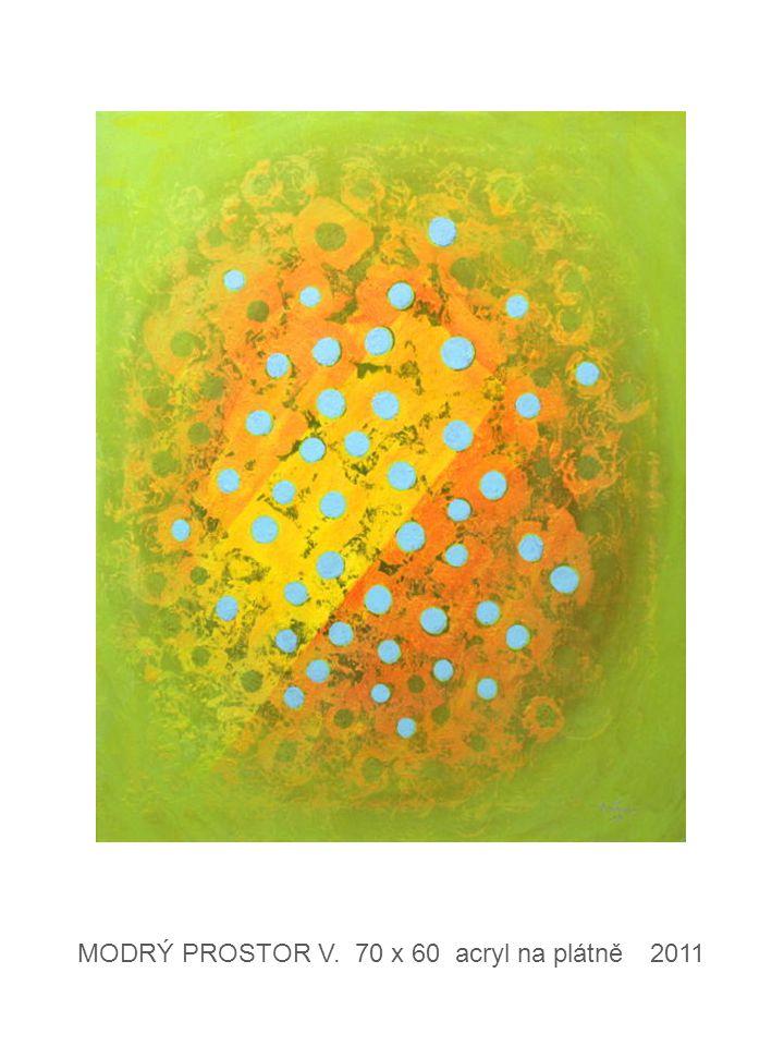 FILTRACE IV. 70 x 60 acryl na plátně 2012