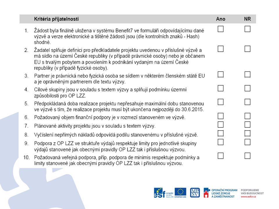 6. Kde získáme informace o stavu našeho projektu? Aplikace Benefit7