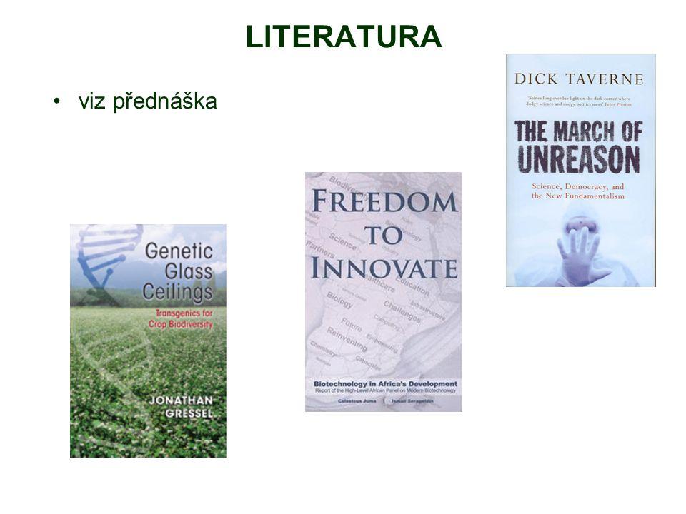 LITERATURA viz přednáška
