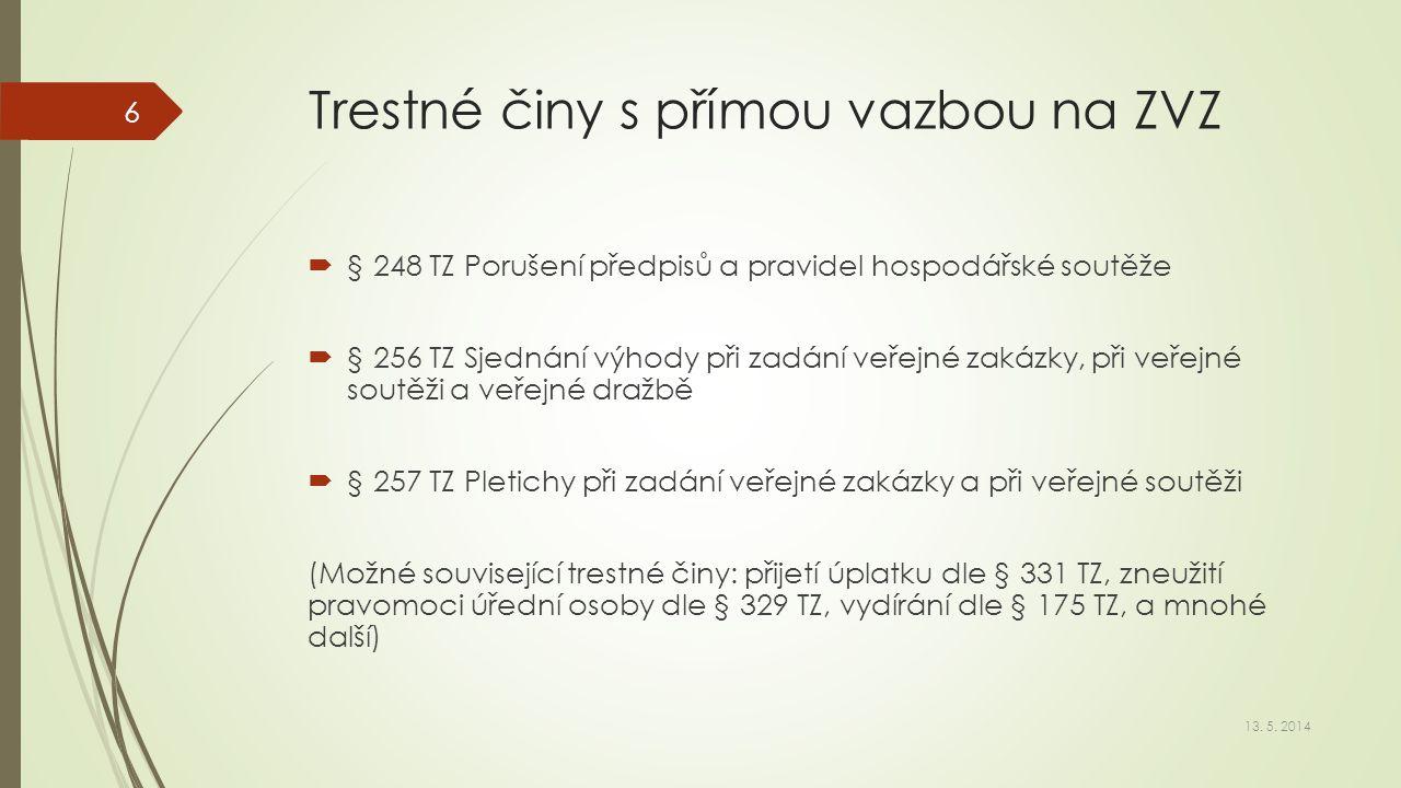 Trestné činy právnických osob  Zákon č.