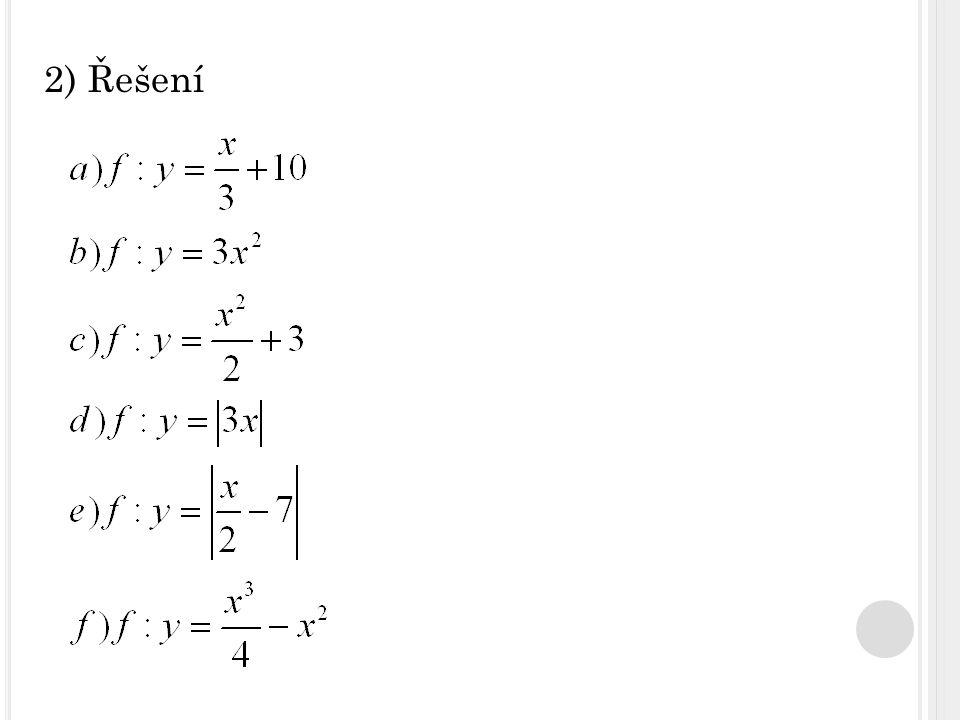 2) Řešení