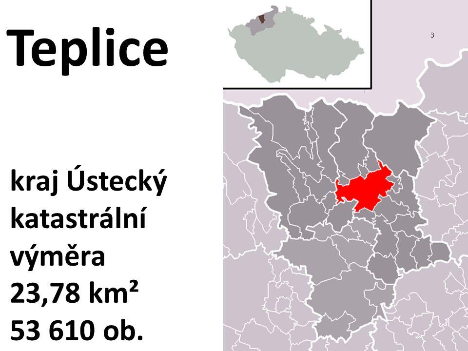 kraj Ústecký katastrální výměra 23,78 km² 53 610 ob. 3