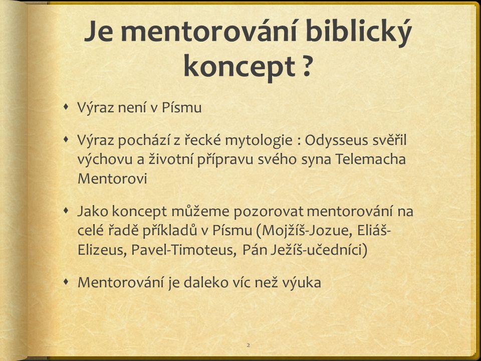 Je mentorování biblický koncept .