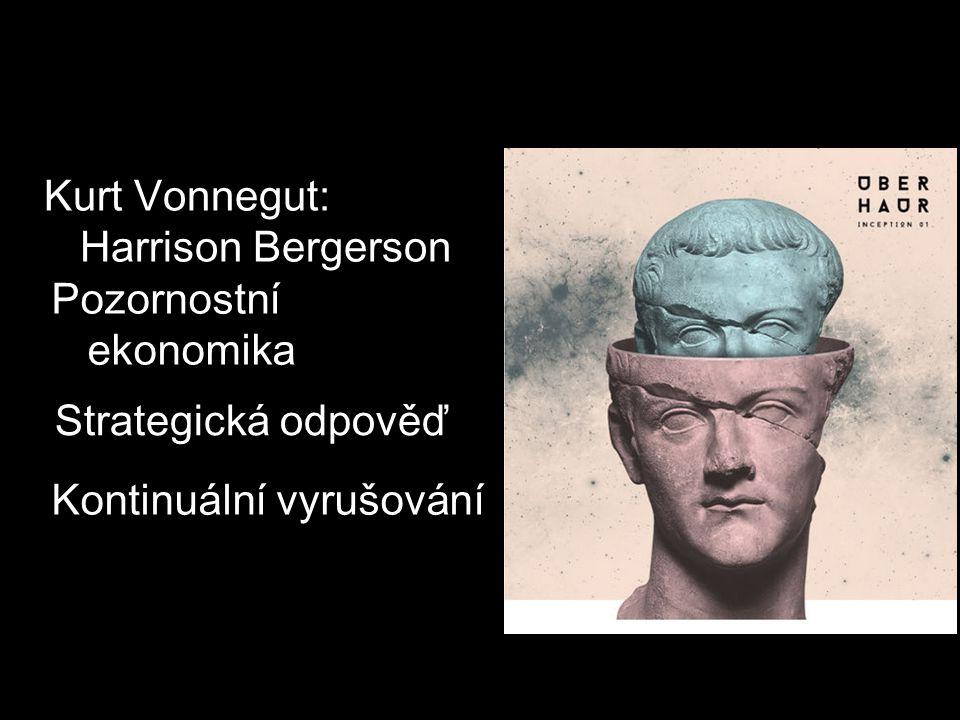 Kurt Vonnegut: Harrison Bergerson Pozornostní ekonomika Strategická odpověď Kontinuální vyrušování