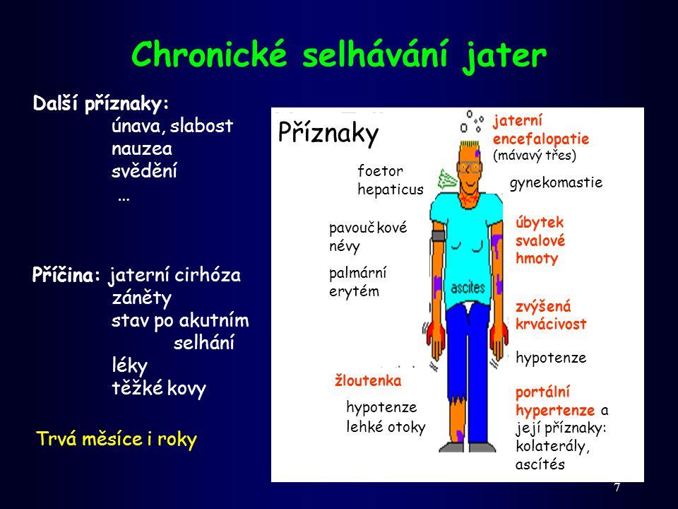 28 Porucha vstřebávání = malabsorbční syndrom (malasimilační syndrom) Primární (porucha v enterocytech): Poruchy transportu aminokyselin: (cystinurie, Hartnupova choroba) Defekt nebo chybění trávicích enzymů ( laktázy ) Celiakie (celiakální sprue) Důsledky: průjem, anémie, celková slabost, úbytek váhy, avitaminózy, osteoporóza, (otoky)