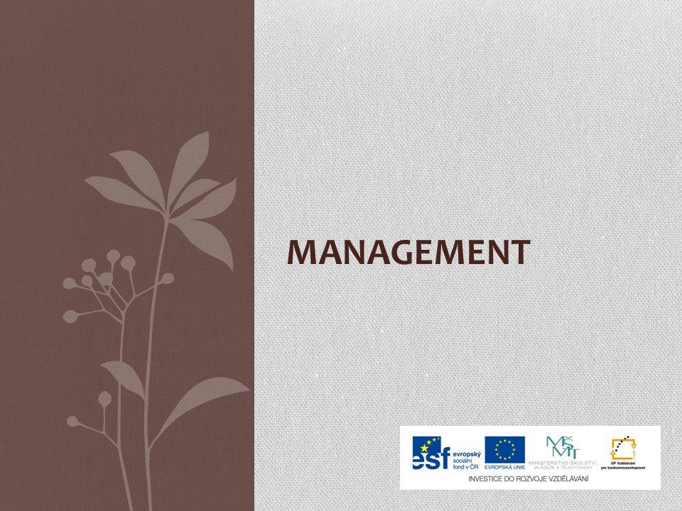 Co je management? Obchodní disciplína Lidská činnost ve firmě Teoretická věda Schopnost řídit firmu