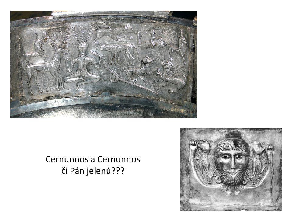 Cernunnos (kamenný reliéf z Paříže a kovová figurka)