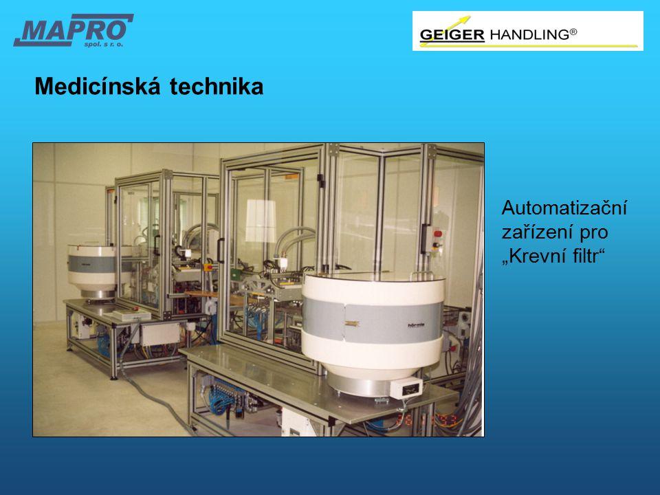 """Medicínská technika Automatizační zařízení pro """"Krevní filtr"""""""
