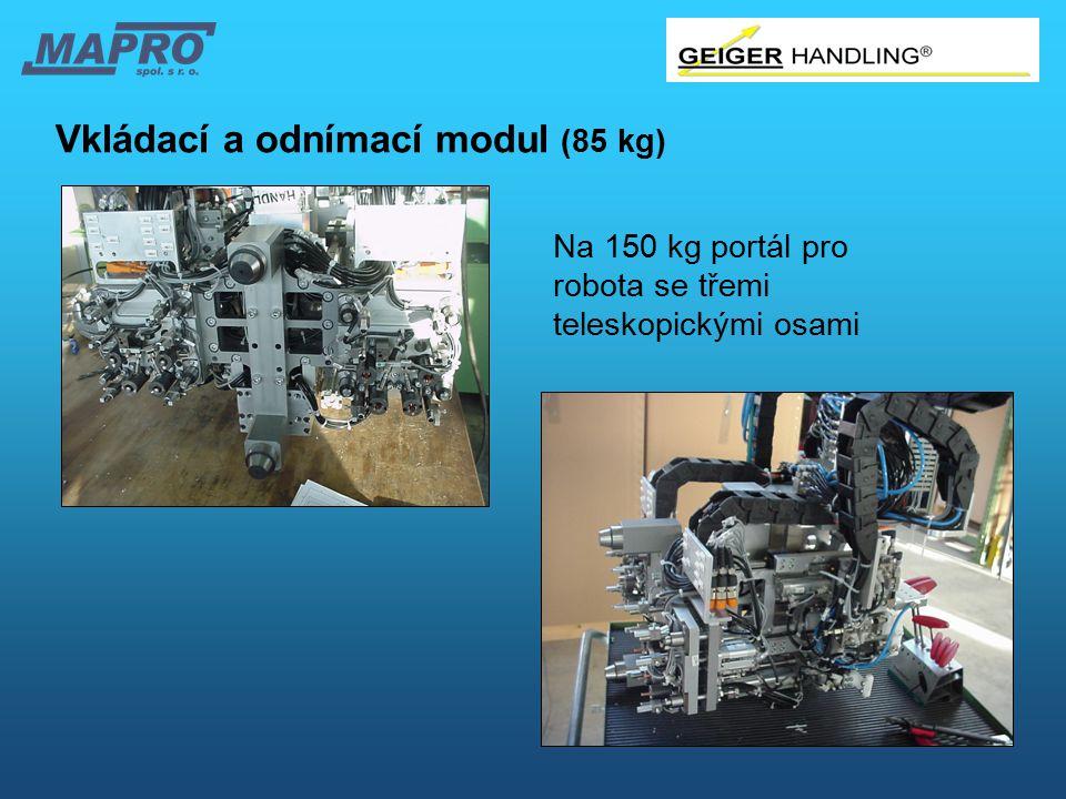 Vkládací a odnímací modul (85 kg) Na 150 kg portál pro robota se třemi teleskopickými osami