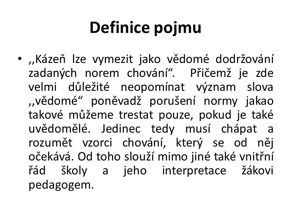 """""""Latinský výraz pro žáka discipulus byl odvozen od slova disciplína."""