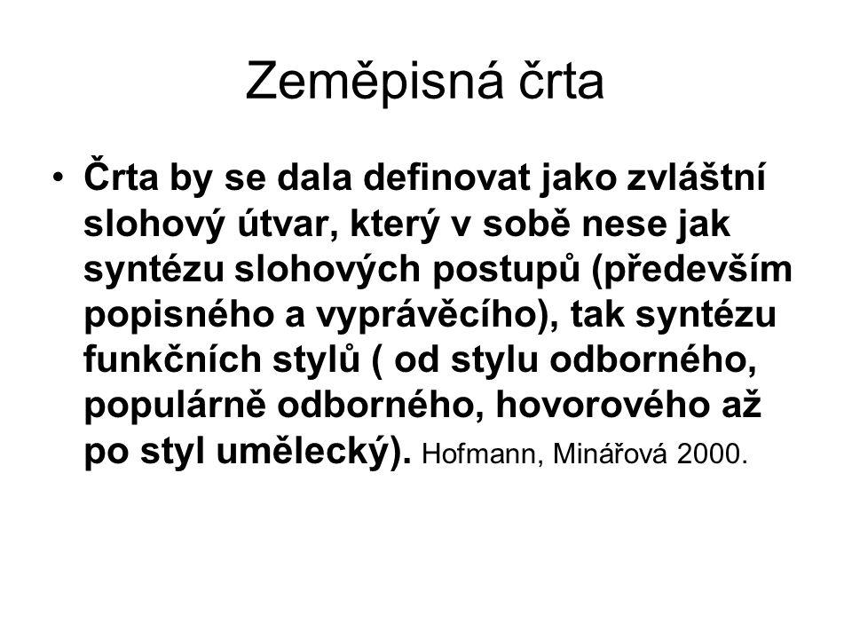 JAK PSÁT CESTOPISNÉ ČRTY .