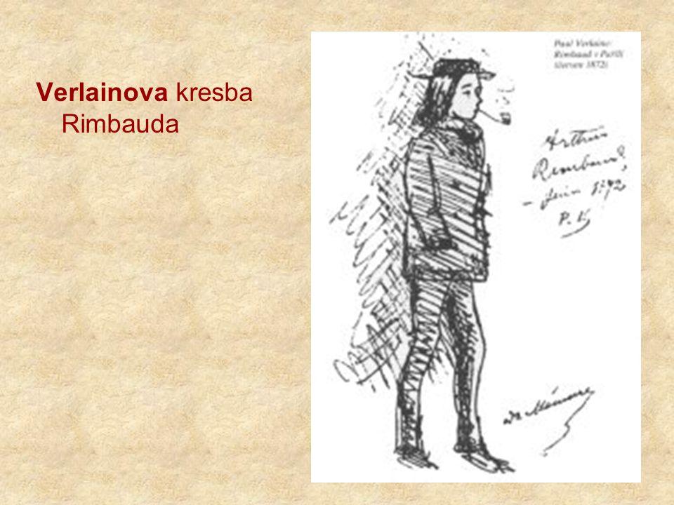 Verlainova kresba Rimbauda