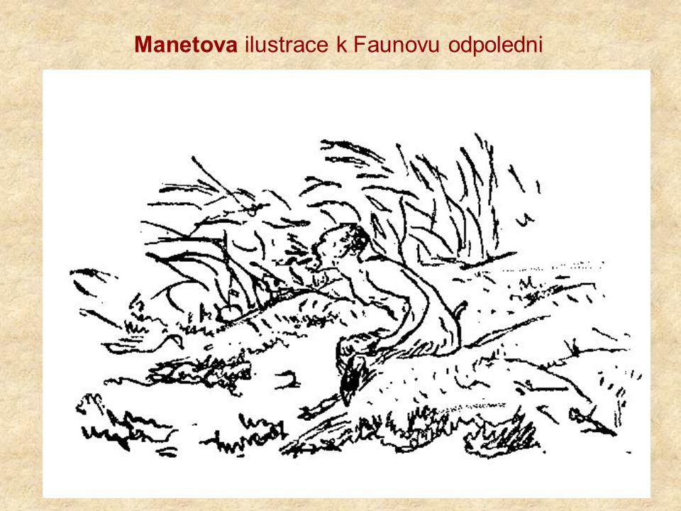Manetova ilustrace k Faunovu odpoledni