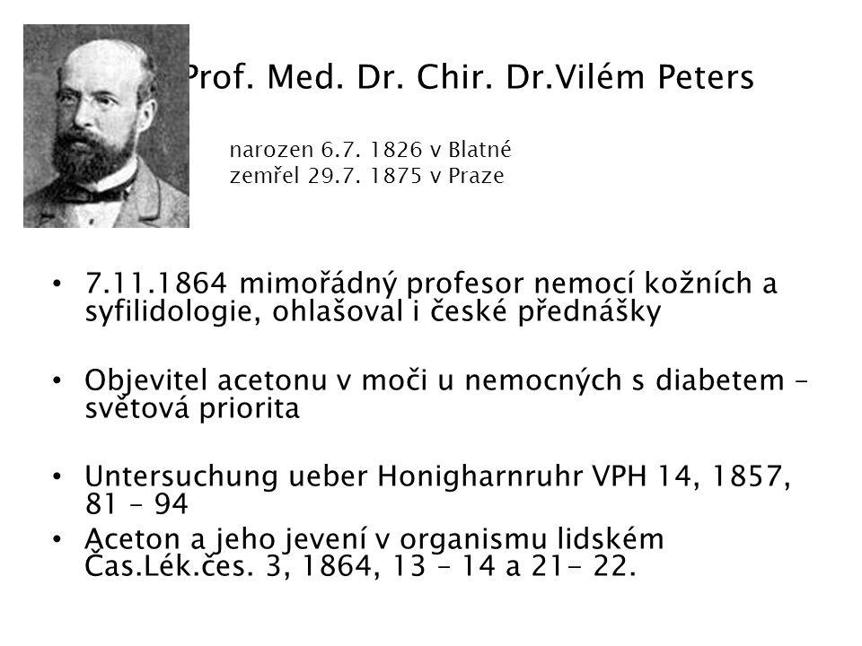 Hledání účinného principu 1889: Minkovski a Mehring: pankreatektomie u psa vede k diabetu 1900: Sobolew: podvaz d.