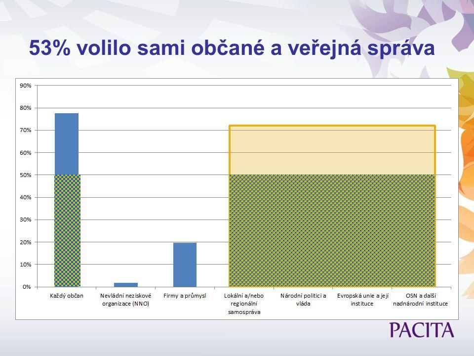 53% volilo sami občané a veřejná správa