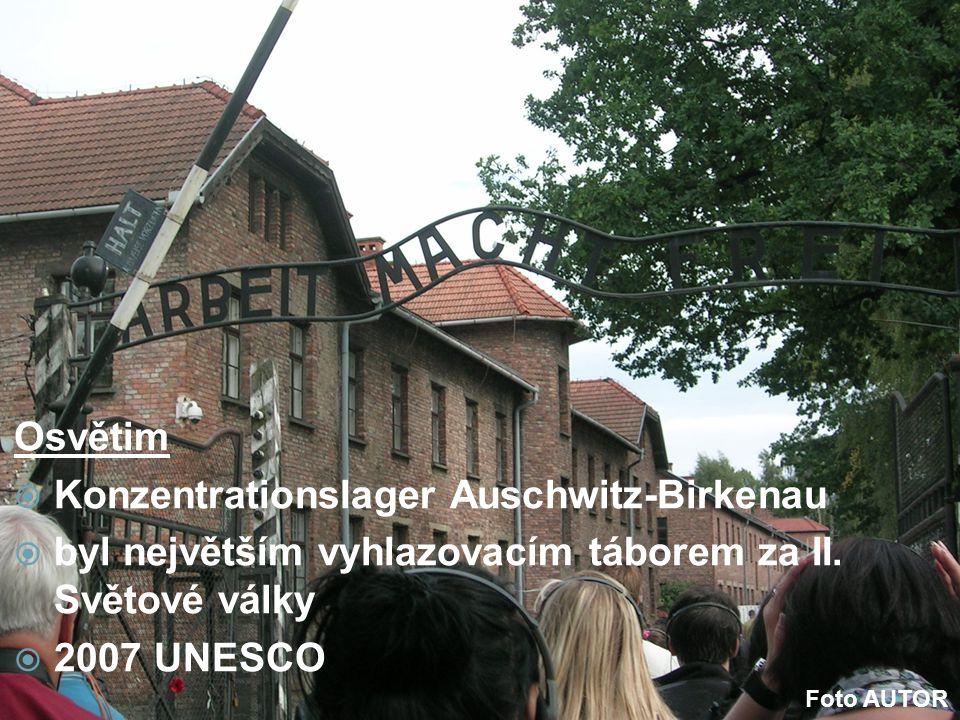 Osvětim  Konzentrationslager Auschwitz-Birkenau  byl největším vyhlazovacím táborem za II. Světové války  2007 UNESCO Foto AUTOR