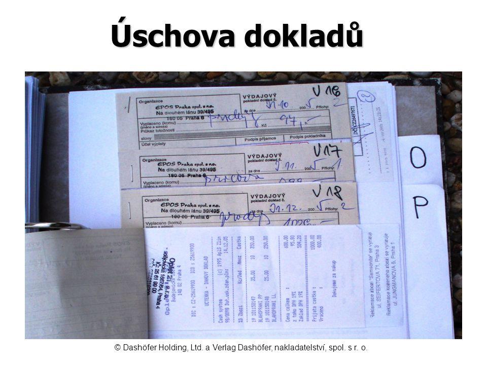Úschova dokladů © Dashöfer Holding, Ltd. a Verlag Dashöfer, nakladatelství, spol. s r. o.