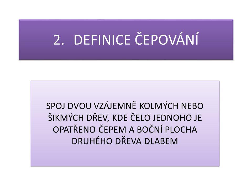 3.ROZDĚLENÍ ČEPOVÁNÍ KOLMÉ ČEPOVÁNÍ ŠIKMÉ