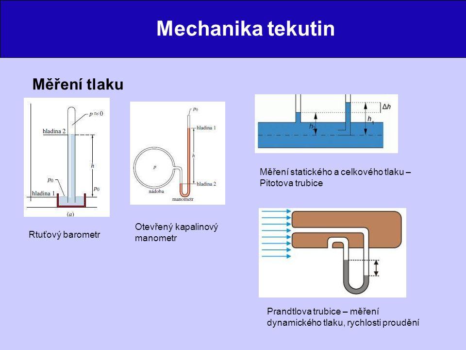 Mechanika tekutin Jednoduché aplikace