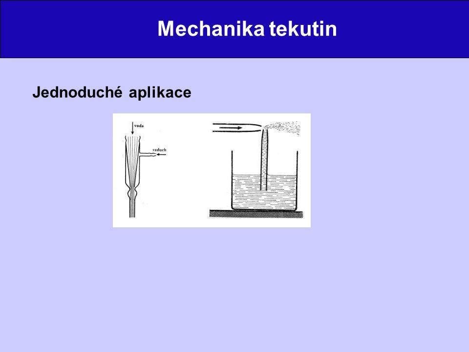Mechanika tekutin Obtékání těles Malé rychlosti (laminární proudění) Velké rychlosti (turbulentní proudění)