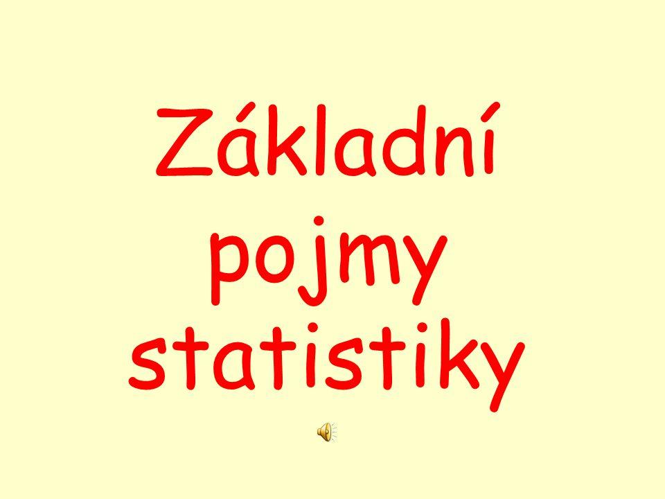 Statistika Cíl: zjišťuje a studuje společenské jevy na dostatečně velkém souboru objektů vytváří přehledný obraz o celém souboru tvoří základ pro plánování, organizaci a vedení ekonomiky vůbec