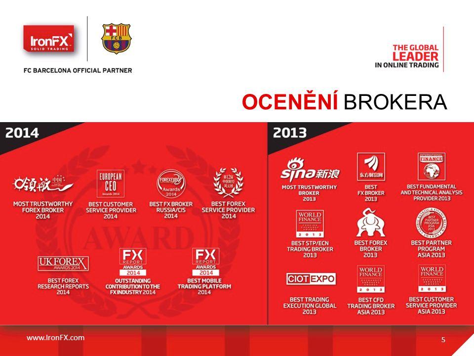 OCENĚNÍ BROKERA 5 www.IronFX.com